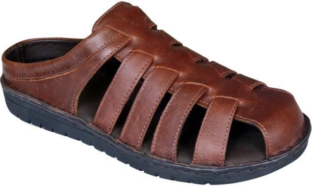 Mardi Gras Men Brown Sandals