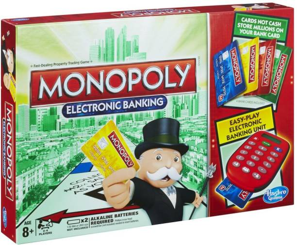 HASBRO GAMING Monopoly Electronic Banking 2-4 Players Board Game Accessories Board Game