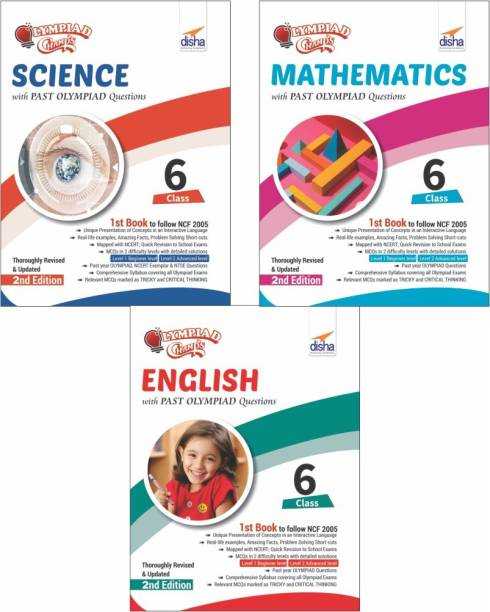 Olympiad Champs Science, Mathematics, English Class 6 with Past Questions 2nd Edition (set of 3 books)