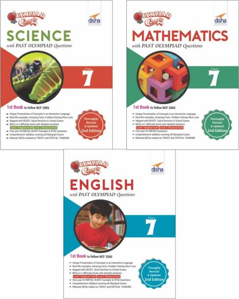 Olympiad Champs Science, Mathematics, English Class 7 with Past Questions 2nd Edition (set of 3 books)