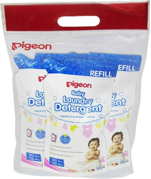 Pigeon Baby Laundry Detergent Liquid 500Ml, Refill Liquid Detergent
