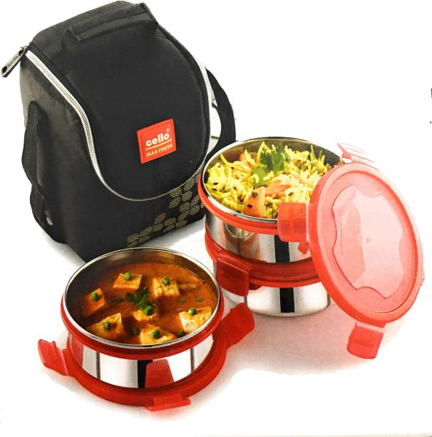 efad5138f39 OffersBank Offer. Cello Steel Click-3-Plus 3 Containers Lunch Box