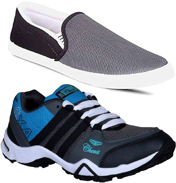 dc8a28710e8 Chevit Combo Pack of 2 Casual & Sports Shoes (Loafers Shoes) Running Shoes  For