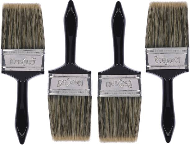 Mercury Wall Paint Brush 4 Inch Multicolour Set Of Synthetic Round