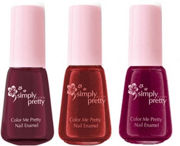 Avon Color Me Pretty Nail Enamel (luscious cherry - maroon magic - deeply  maroon) d5e3185efa