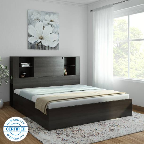 Crystal Furnitech Claris Charger Bed Engineered Wood Queen Box Bed