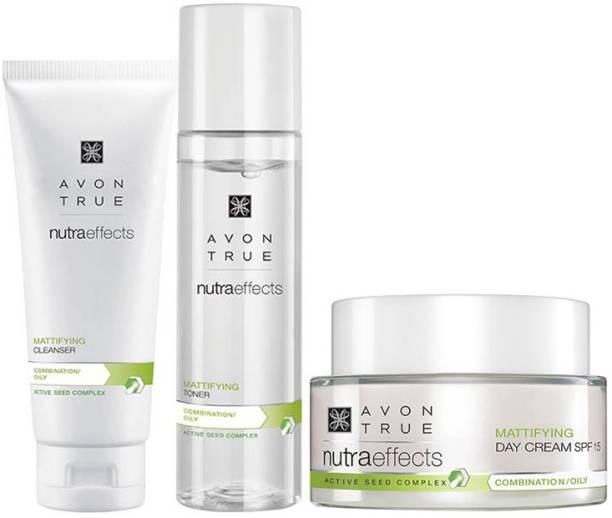 AVON True Nutraeffects Mattifying Cleanser 100g + Toner 150ml + Day Cream 50g