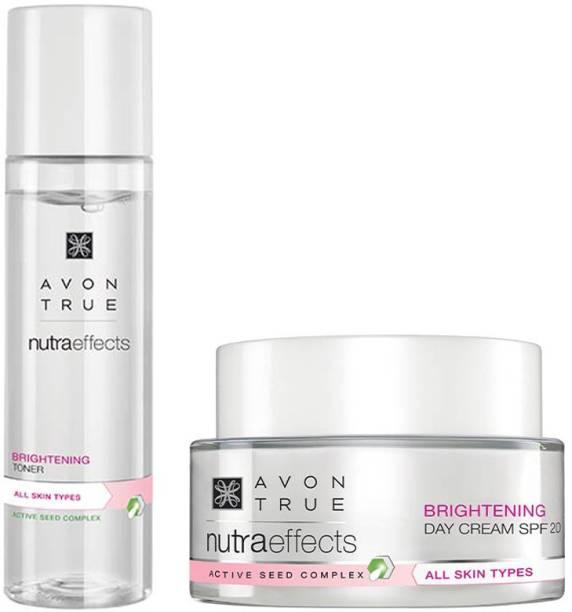 AVON True Nutraeffects Brightening Day Cream 50g + Brightening Toner 150 ml