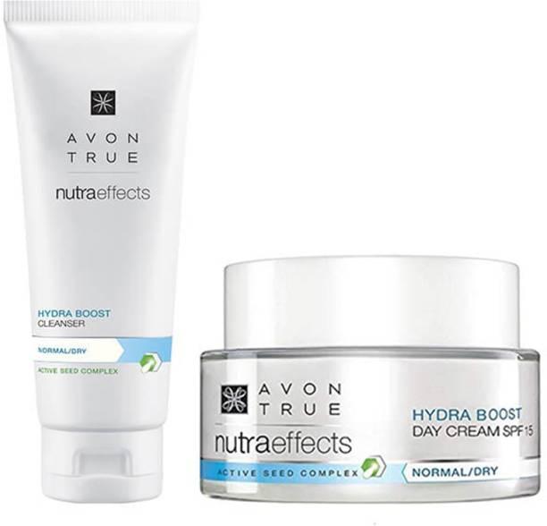 AVON True Nutraeffects Hydra Boost Day Cream 50g + Hydra Boost Cleanser 100g