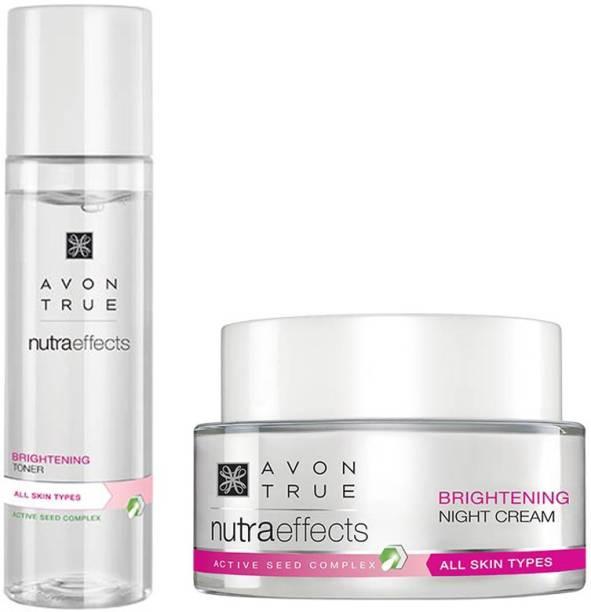 AVON True Nutraeffects Brightening Night Cream 50g + Brightening Toner 150 ml