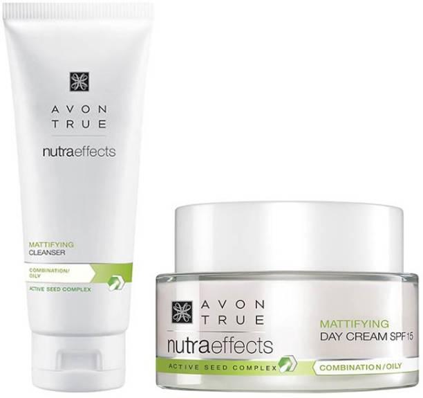 AVON True Nutraeffects Mattifying Day Cream 50g + Mattifying Cleanser 100g