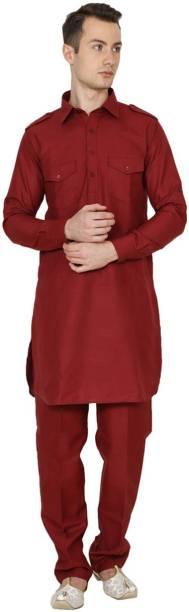 Nawab-Saheb Men Pathani Suit Set