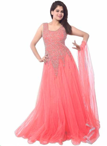 e03c515d550 Pink Gowns - Buy Pink Gowns Online at Best Prices In India ...