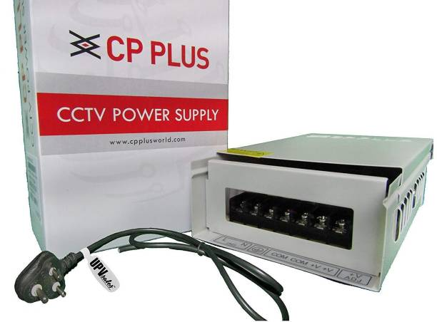 CP PLUS CCTV Metal Body Power Supply 12V 20Amp For 16Ch With UPV Power Cable - CP-DPS-MD200-12D Combo Pack Security Camera