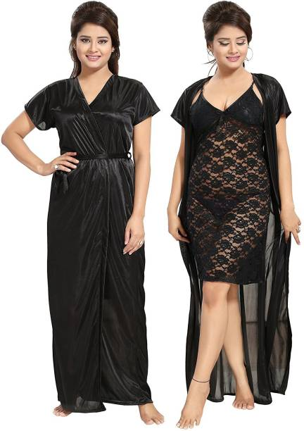f614764009 Be You Women Nighty with Robe