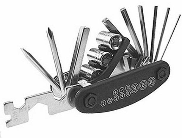 AlexVyan Special 15 in 1 Multi-function Bicycle Tools Sets Bike Bicycle Multi Repair Tool Kit Hex Spoke Wrench Mountain Cycle Screwdriver Tool Cycling Cycle Tool Kit