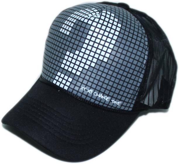 9bdc1bc1a21fc Friendskart Solid Printed Half Net In Baseball Style Cap Frint side Printed  Question Mark In Grey