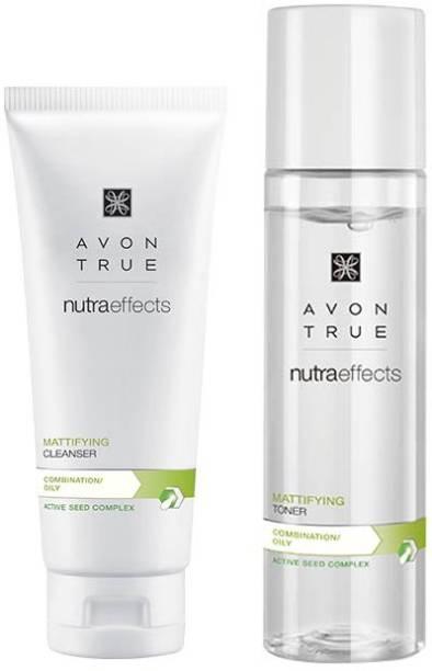 AVON True Nutraeffects Mattifying Cleanser 100g + Mattifying Toner 150 ml