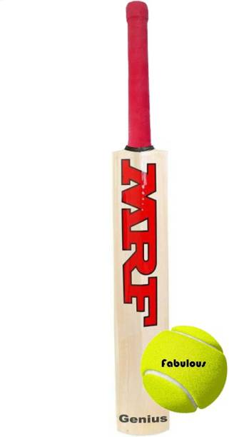 MRF Poplar Willow Cricket Bat With Tennis Ball Cricket Kit