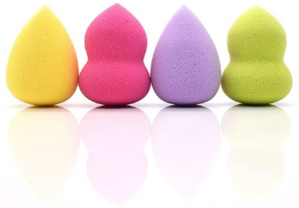Eazyshoppe Set of 4 Makeup Beauty Foundation Cream Powder Liquid Blender Spong Puff