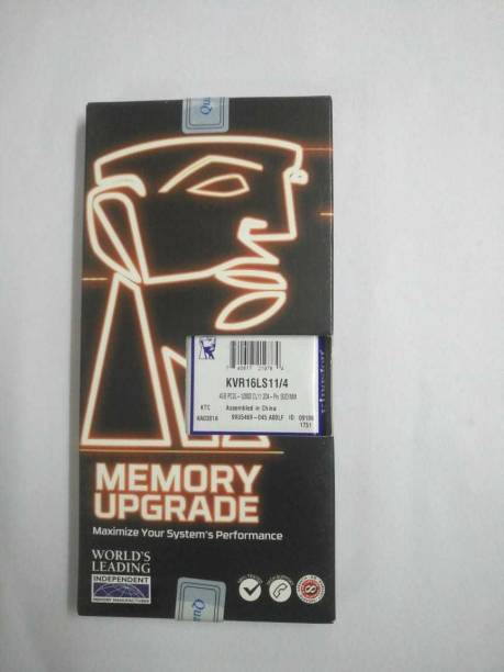 KINGSTON 12800 DDR3 4 GB (Single Channel) Laptop SO-DIMM (DDR3)