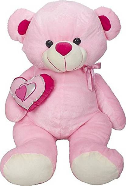 2fc2056287f Jassi Toys Cute   Hugable Pink Teddy Bear with Heart in Teddy  Soft Toy