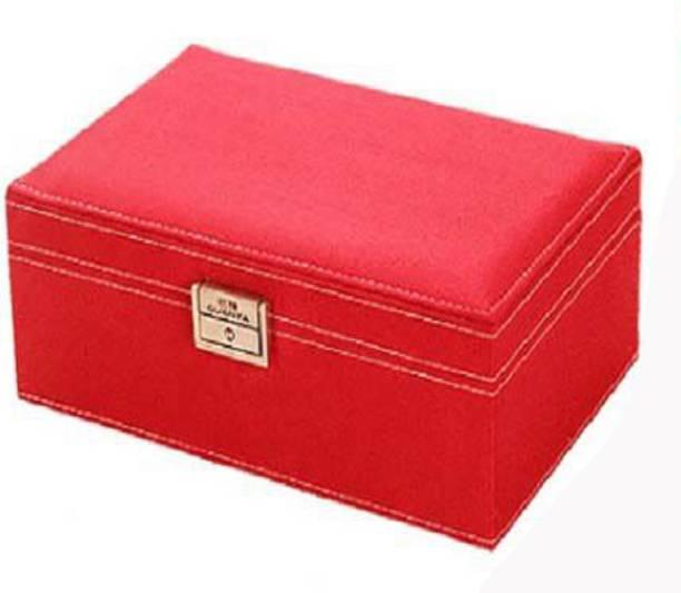 Syga Princess Wooden European Style Lock Jewellery Earrings Decorative Box Red Vanity