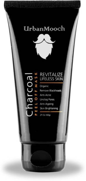 UrbanMooch Activated Charcoal Peel Off Mask for Blackheads Removal, Skin Hair Removal, Anti Aging & Skin Brightness