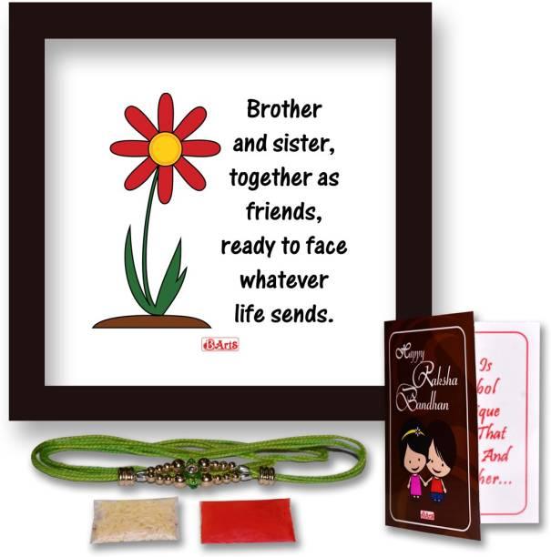 Bakhand Art & Gifts Chawal Roli Pack, Rakhi, Greeting Card, Poster  Set