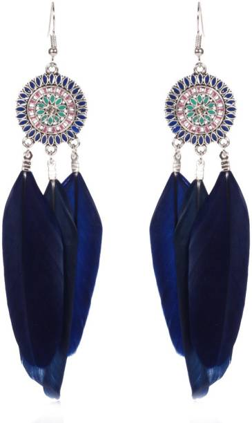 Remanika Feather Wings Zinc Resin Tel Earring