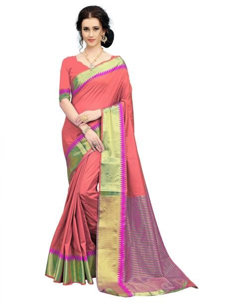 Sanku Fashion Woven Kanjivaram Jacquard, Art Silk Saree