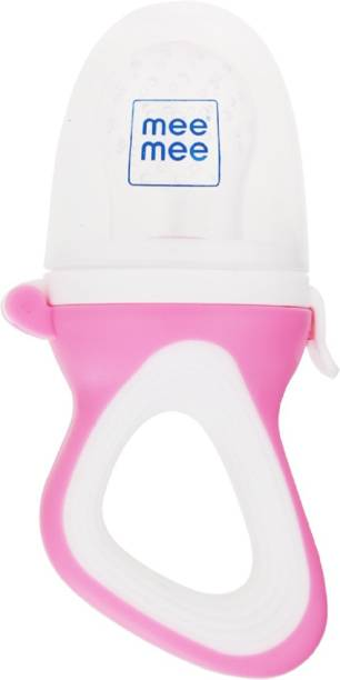 MeeMee Fruit and Food Nibbler (With Silicone Sack, Pink) Feeder