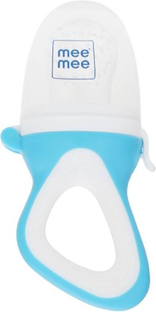 MeeMee Fruit and Food Nibbler (With Silicone Sack, Blue) Feeder