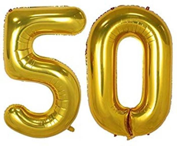 Funtastic Solid 50th Anniversary Birthday Gold Balloon