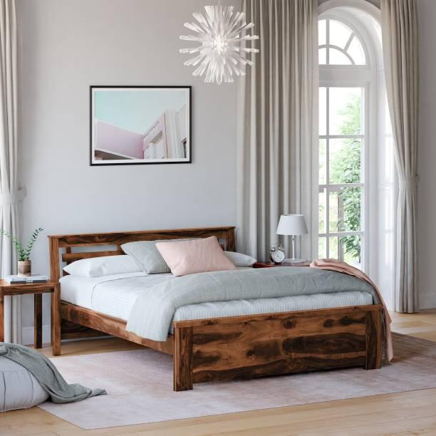 Flipkart Perfect Homes PureWood Sheesham Queen Bed