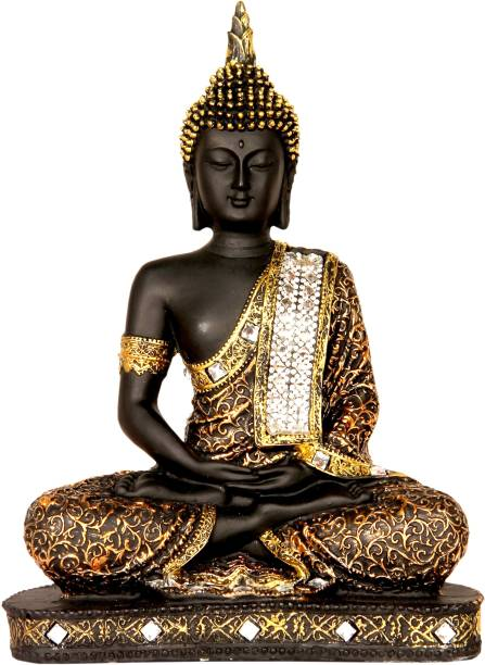 Heeran Art Vastu Fangshui Religious Idol of Lord Gautama Buddha Statue Decorative Showpiece  -  24 cm