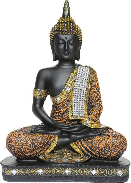 Heeran Art Vastu Fangshui Religious Idol of Lord Gautama Buddha Statue ORB Decorative Showpiece  -  24 cm