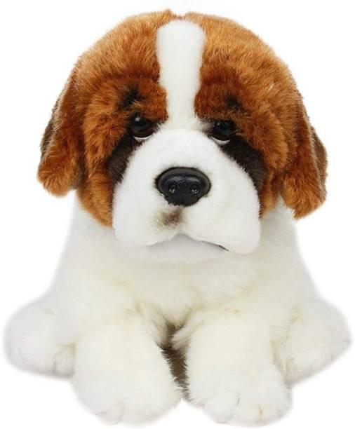 Hamleys Saint Bernard Dog Animal Plush Soft Toy for Kids  - 19 cm