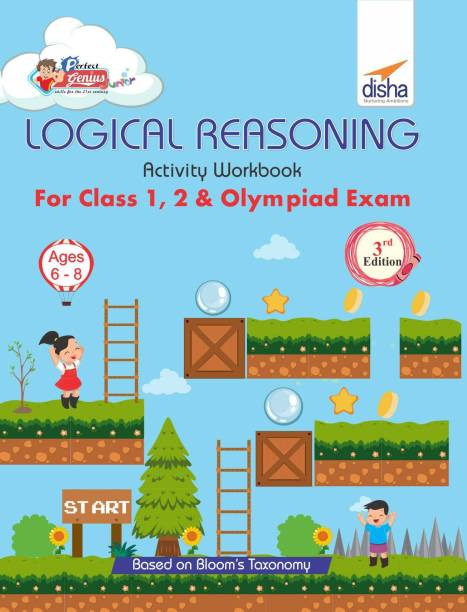 Perfect Genius Logical Reasoning Activity Workbook for Class 1, 2 & Olympiad Exams - Ages 6 to 8