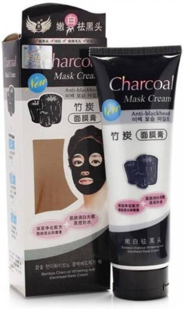 Vihado Charcoal Oil Control Anti-Acne Deep Cleansing Blackhead Remover, Peel Off Mask (130gm)
