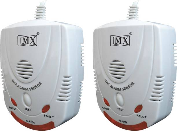 MX Gas Leakage Alarm Detector Home Office Restaurant Cordless Lpg Png Pack of 2 Gas Detector