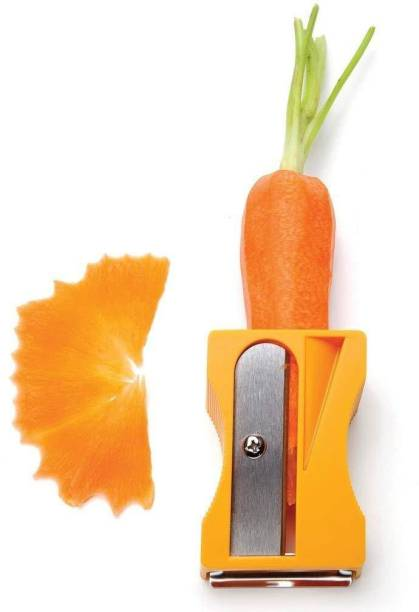 HOUSE OF QUIRK Vegetable Peeler Spiral Ribbon Cutter and Shaver for Carrot, Cucumber, Potatoes Straight Peeler