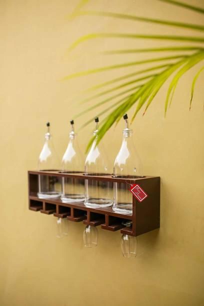 Onlineshoppee Wood Bottle Rack