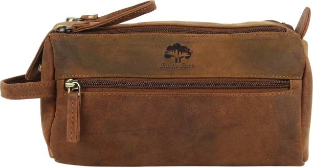 da625696a7 Rustic Town Genuine Leather Travel Toiletry Bag - Dopp Kit Organizer Shaving  And Grooming Kit For