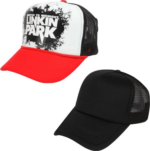 Drunken Men s Mesh Stylish Adjustable Freesize Cap Color (Red-Black) Cap 8dabcf7c6ca3