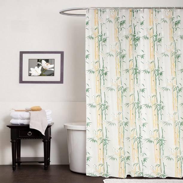 CASA Furnishing 274 Cm 9 Ft PVC Shower Curtain Pack Of 2