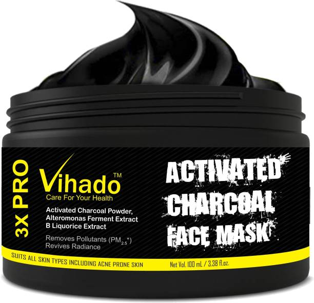 Vihado Charcoal Bamboo (charcoal) face mask 100 ml