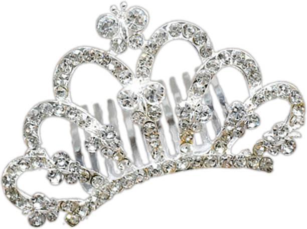 Young & Forever Verona Collection Diamante Bow Hair Comb Hair Clip
