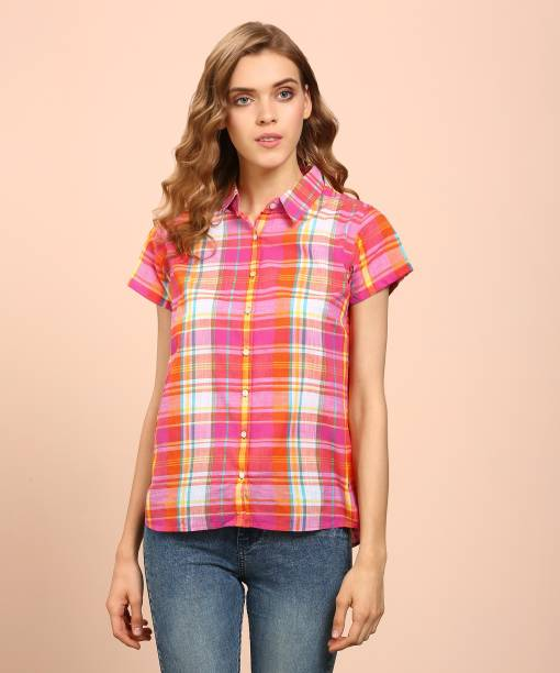 14cd207ff842 Pepe Jeans Women s Checkered Casual Multicolor Shirt