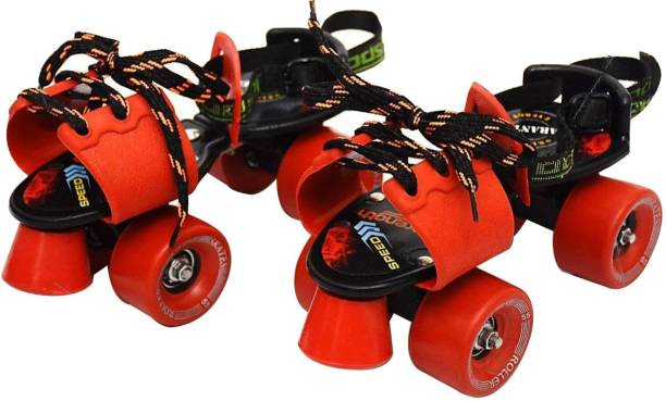 084fc33a0b3 Jaspo Adjustable Senior Roller Skates Suitable for Age Group 6 to 14 Years  (red)